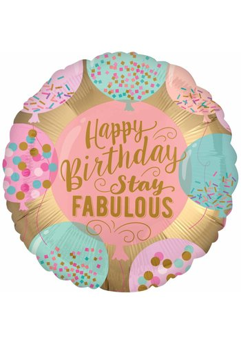 Folieballon HB Stay Fabulous - 45cm