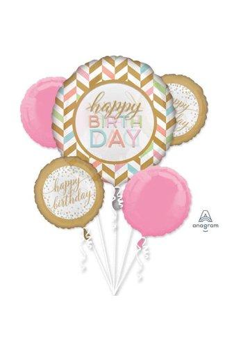 "Folieballonnen Bouquet ""Pastel Confetti Celebration"""