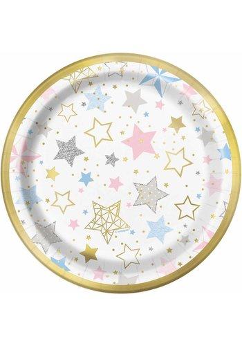 Bordjes Twinkle Little Star - 18cm - 8 stuks