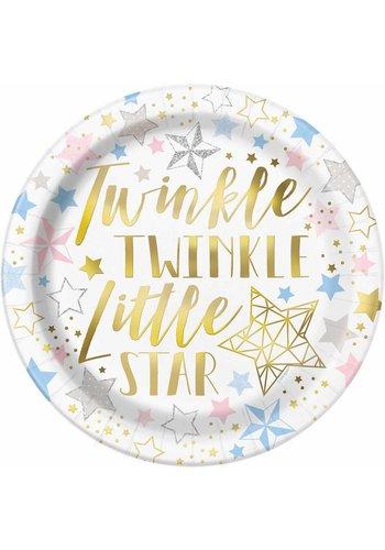 Bordjes Twinkle Little Star - 23cm - 8 stuks