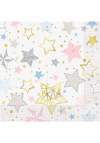 Servetten Twinkle Little Star - 33x33cm - 16 stuks
