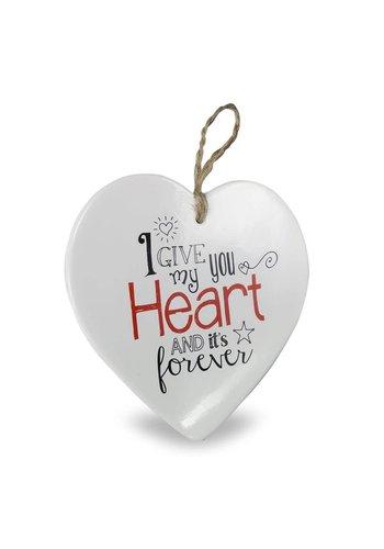 Hartje Voor Jou - Heart Forever - 15x1x15 cm