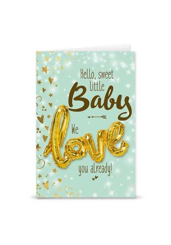 Wenskaart Love Balloon - Baby