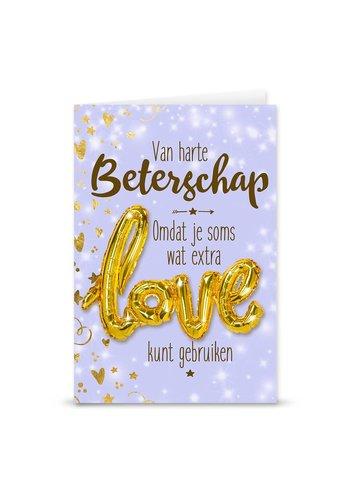 Wenskaart Love Balloon - Beterschap