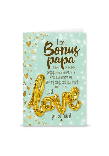 Wenskaart Love Balloon - Bonus Papa