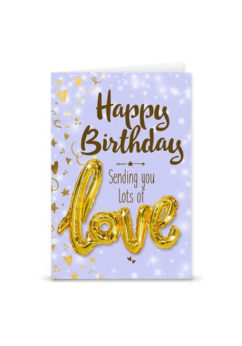 Wenskaart Love Balloon - Happy Birthday