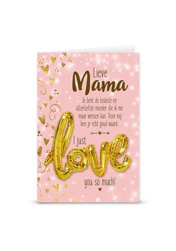 Wenskaart Love Balloon - Mama