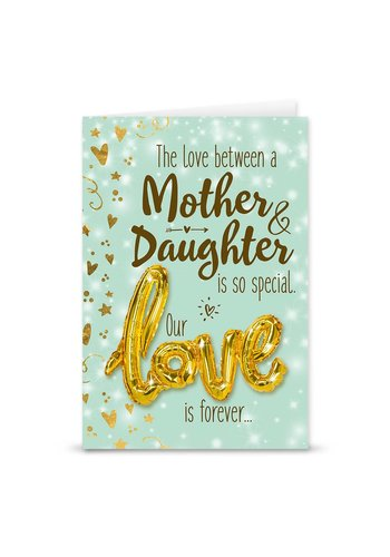 Wenskaart Love Balloon - Mother & Daughter