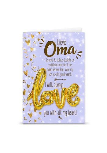Wenskaart Love Balloon - Oma