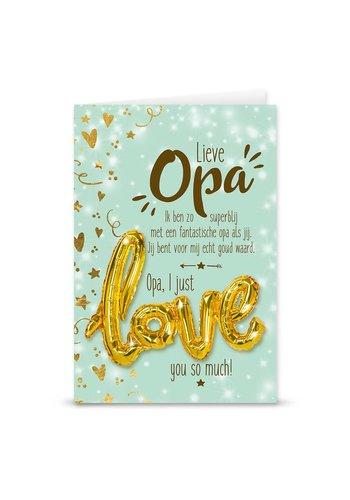 Wenskaart Love Balloon - Opa