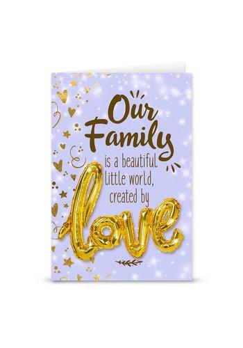 Wenskaart Love Balloon - Our Family
