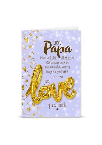 Wenskaart Love Balloon - Papa