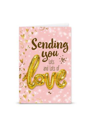 Wenskaart Love Balloon - Sending You