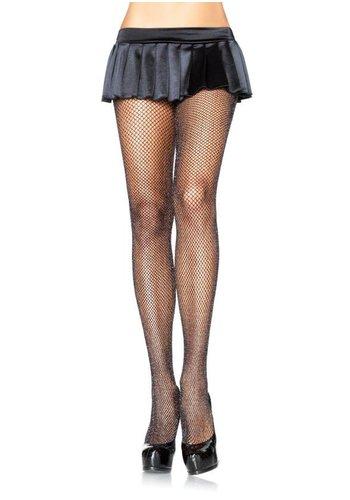 Visnet Panty met Glitter - Zwart