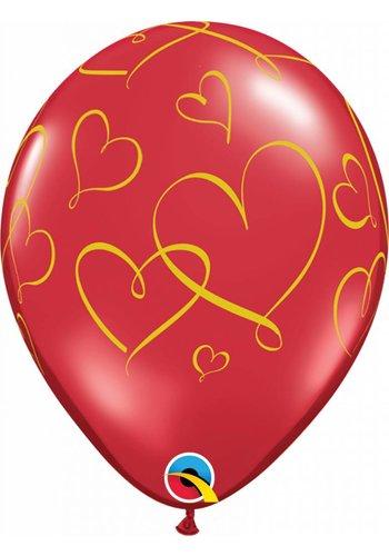 "11"" Romantic Hearts (28cm)"