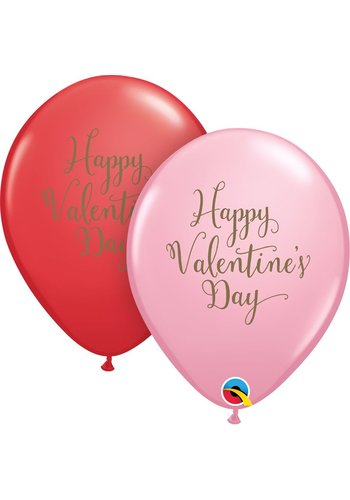 "11"" Happy Valentine's Day Gold (28cm)"