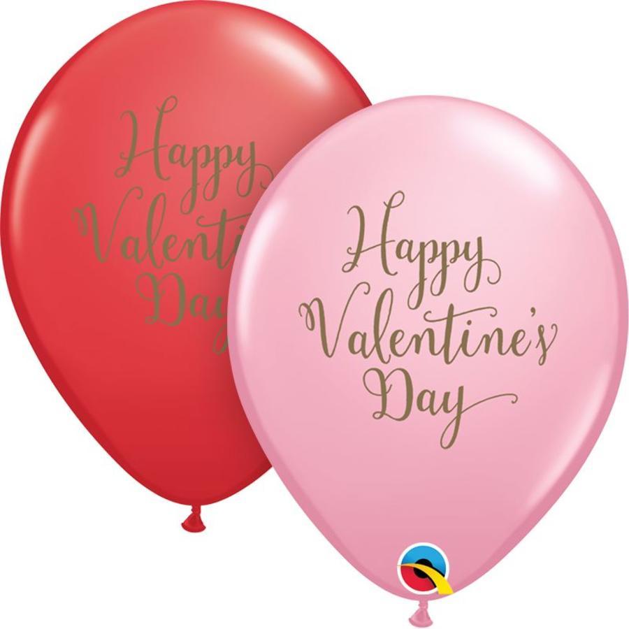 "11"" Happy Valentine's Day Gold (28cm)-1"