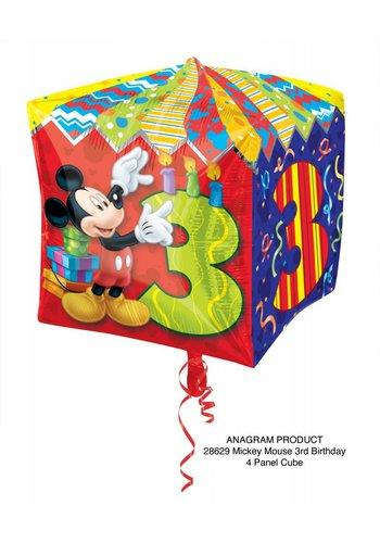 Cubez Mickey 3 Jaar - 38x38cm