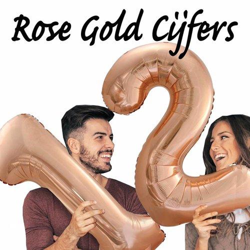 Rosé Gold Folie cijfers