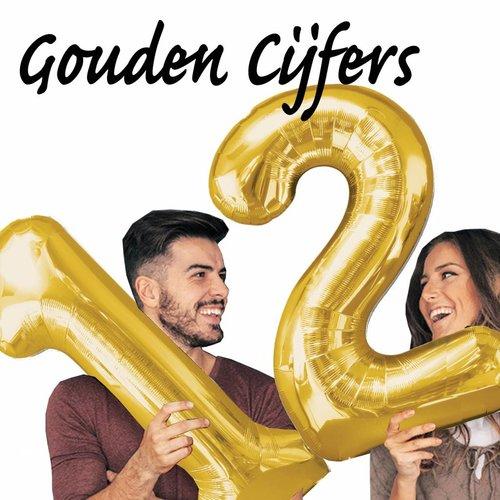 Gouden Folie cijfers