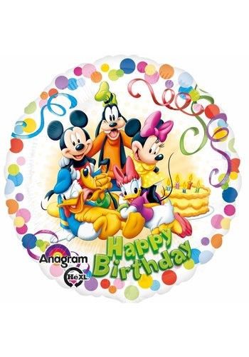 Folieballon Happy Birthday Mickey Mouse - 45cm
