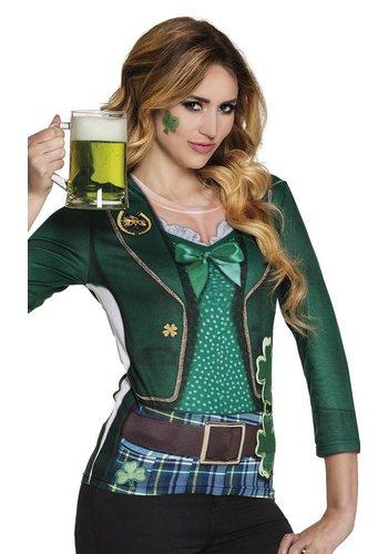 Fotorealistisch shirt Irish lady