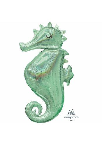 Folieballon Mermaid Wishes Seahorse - 50x96cm