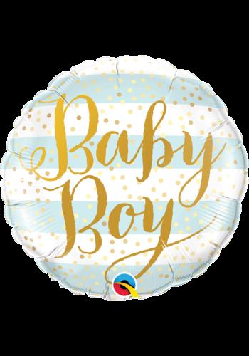 Folieballon Baby Boy Gold
