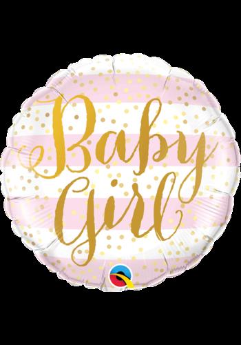 Folieballon Baby Girl Gold