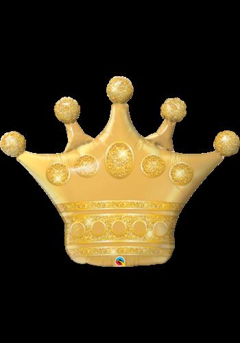 Folieballon Gouden Kroon - 89x74cm