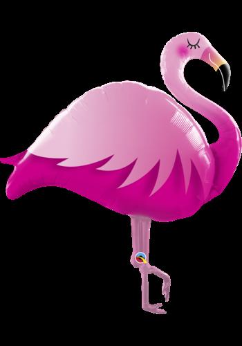 Folieballon Roze Flamingo - 74x89cm