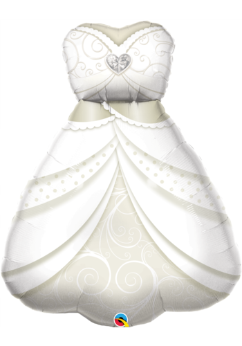 Folieballon Bride's Wedding Dress - 58x74cm