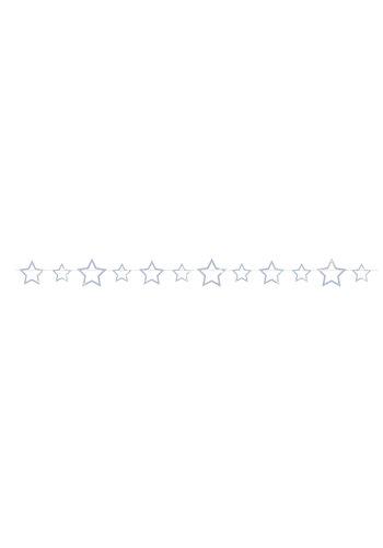 Slinger sterren holographic silver - 4mtr
