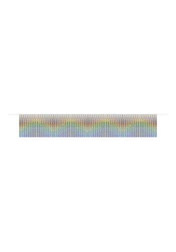Fringe slinger holographic silver - 6mtr
