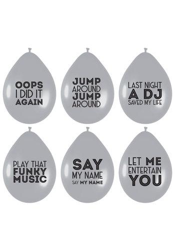 Ballonnen Song Quotes - 6 stuks - 30cm