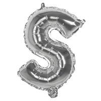 Folieballon S zilver - lucht gevuld - 36 cm