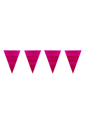 Vlaggenlijn Metallic Mat - Hot Pink - 6 mtr