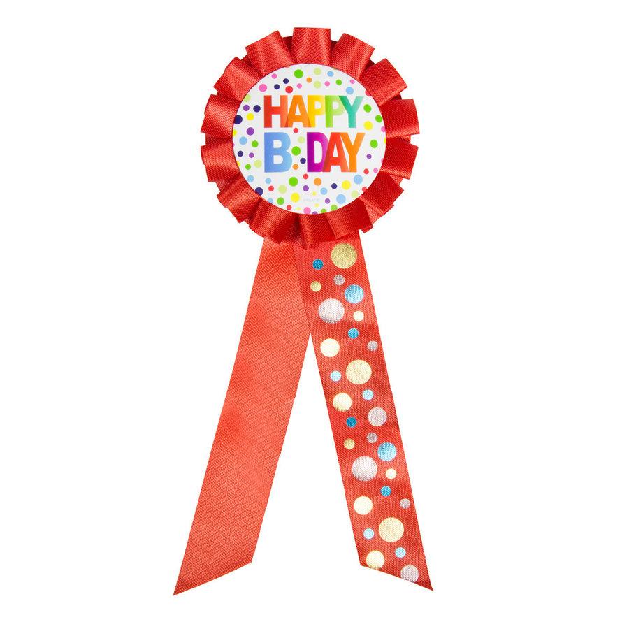 Rozet Rainbow Happy Birthday-1