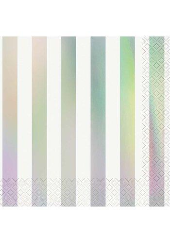 Sparkling Iridescent Servetten - 16 stuks - 25x25cm