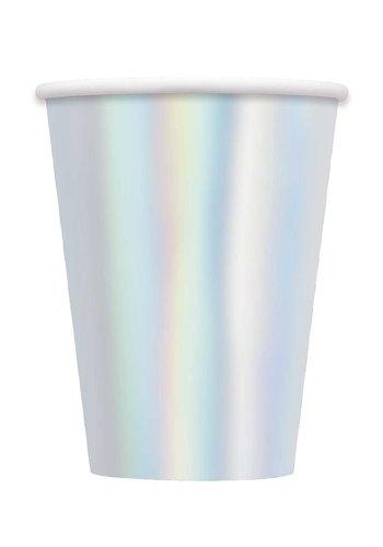 Sparkling Iridescent Bekertjes - 8 stuks