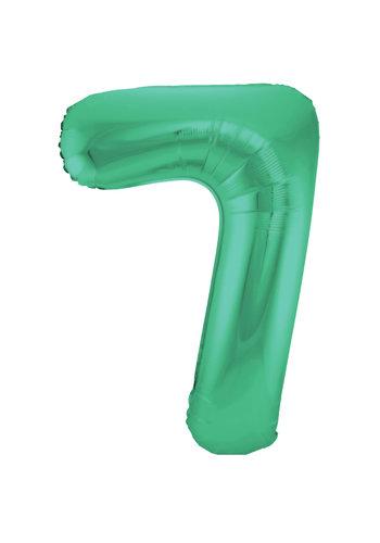 Folieballon 7 Mat Groen - 92cm
