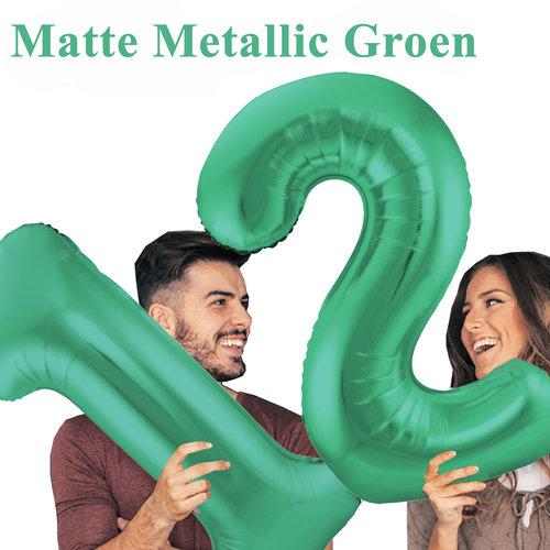Mat Metallic Groen