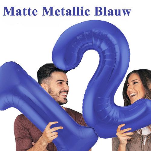 Mat Metallic Blauw