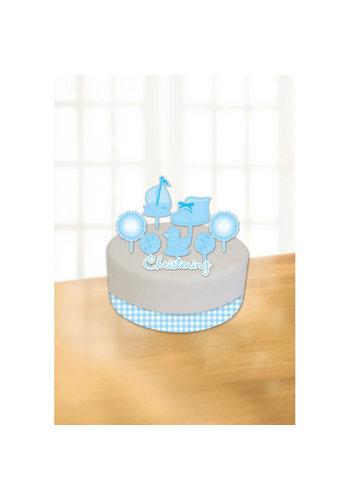 Communie Taart Decoratie - Blauw