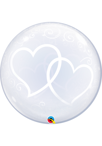 Deco Bubble Entwinted Hearts - 61 cm - 24 inch