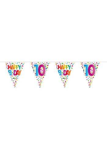 Vlaggenlijn Happy Birthday Dots 10 - 10 meter