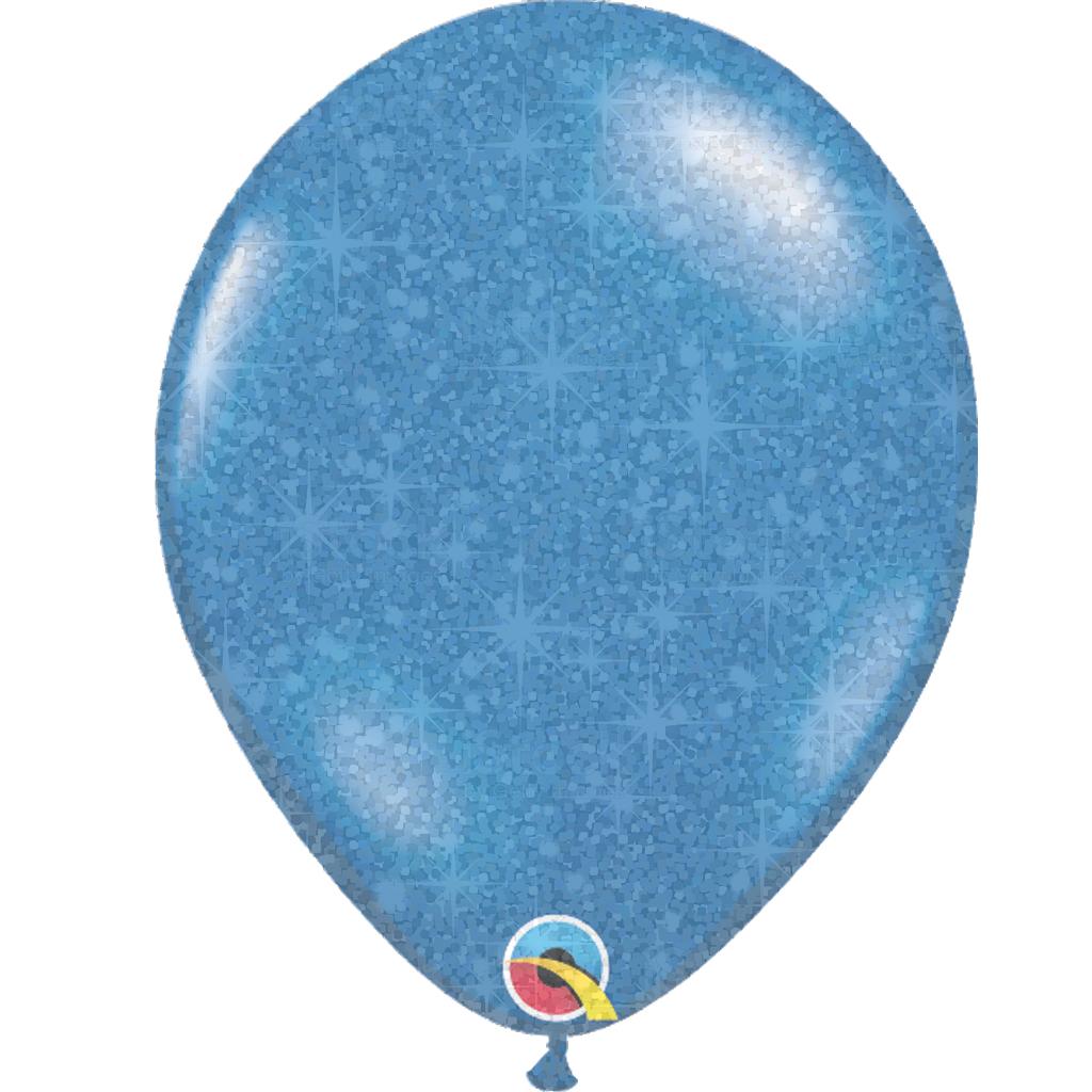 Blauwe ballon met glitter