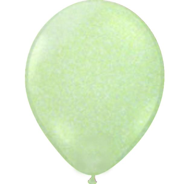 Glitter ballon groen