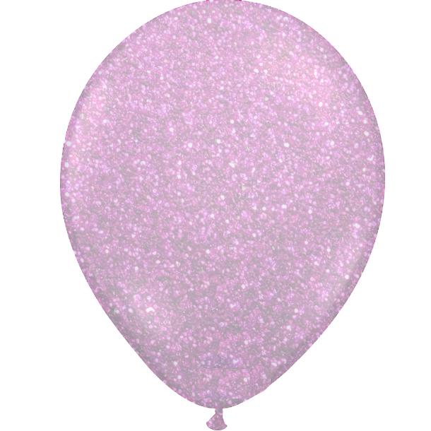 Glitter ballon Hot Pink