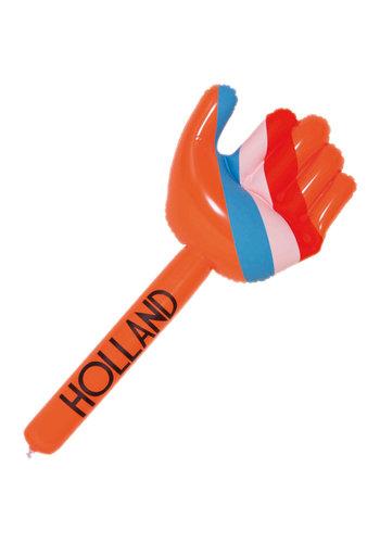 Opblaasbare Hand Oranje/Rood/Wit/Blauw